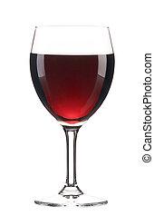 vetro, vino., rosso