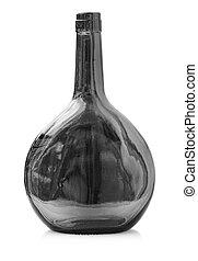 vetro, vuoto, bianco, bottiglia, isolato, vecchio