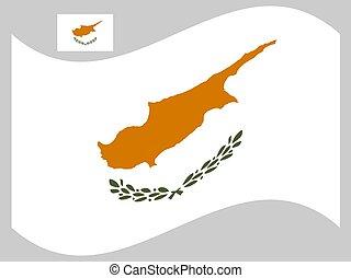 vettore, 10, illustrazione, bandiera, eps, onda, cipro