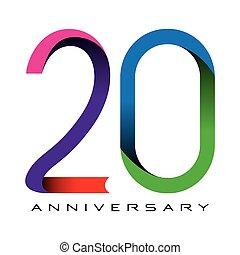 vettore, 20, anniversario, anni