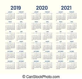Calendario Anno 1980.2019 Calendario 2020 2021 Anno Blu Pianificatore
