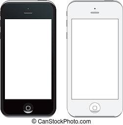 vettore, 5, iphone