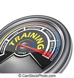 vettore, addestramento, concettuale, metro, indicatore
