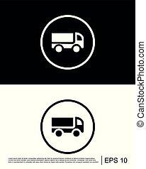 vettore, agricoltura, trasporto, icona
