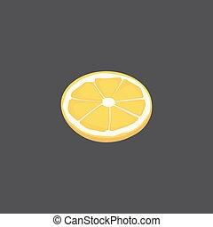 vettore, agrume, vresh, lemon., affettato, frutta, pezzo