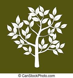 vettore, albero., illustrazione