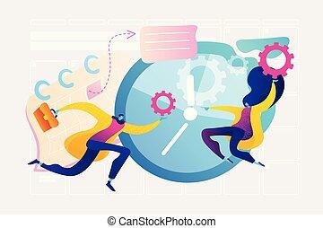 vettore, amministrazione, concetto, illustration., tempo