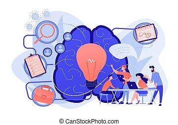 vettore, amministrazione, progetto, concetto, illustration.