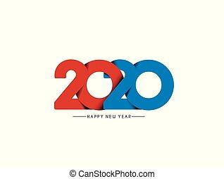 vettore, anno nuovo, testo, picchiettio, felice, disegno, ...