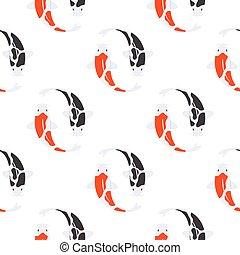 Pesce koi giapponese carpa vettore fish vettore di for Carpa giapponese prezzo