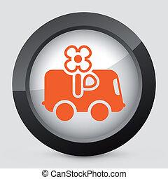 vettore, arancia, e, grigio, isolato, icon.