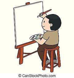 vettore, artista