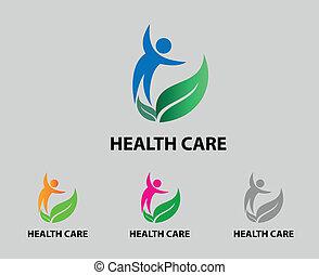 vettore, assistenza sanitaria, icona