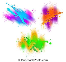 vettore, astratto, elementi, disegno, colorito