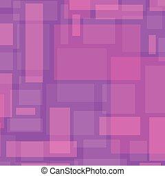 vettore, astratto, fondo, con, rettangoli, in, rosa, color.