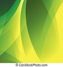 vettore, astratto, sfondo verde