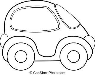 vettore, automobile, giocattolo