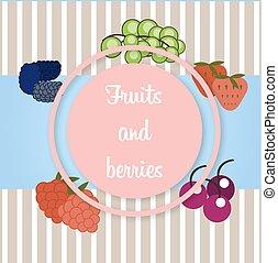 vettore, bacche, frutte