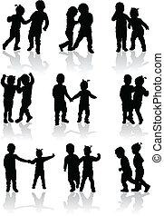 vettore, bambini, illustrazione