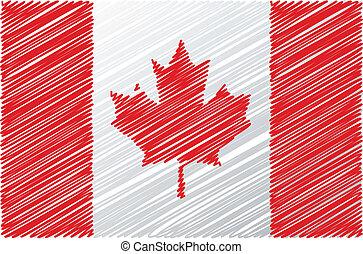 vettore, bandiera, illustrazione, canadese