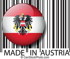 vettore, barcode., fatto, austria, illustrazione
