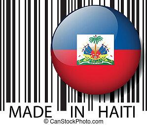 vettore, barcode., fatto, haiti, illustrazione