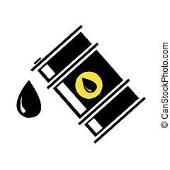 vettore, barile, olio, illustrazione
