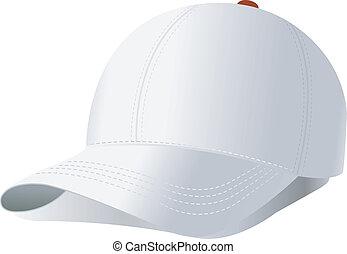 vettore, berretto, baseball