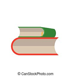 vettore, bianco, set, libro, fondo