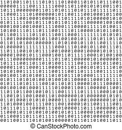 vettore, binario, astratto, codice, fondo