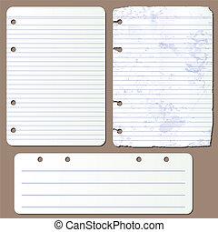 vettore, blocco note, pagine