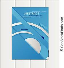 vettore, blu, opuscolo, a5, o, a4, formato, materiale, disegnare elemento, corporativo, stile