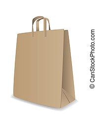vettore, borsa, carta