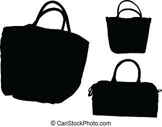 vettore, -, borse, collezione