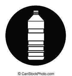 vettore, bottiglia, icona