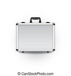 vettore, briefcase metallo