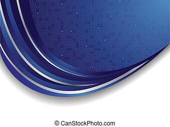 vettore, brillante blu, fondo