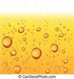 vettore, bubbles., birra, schiuma, fondo