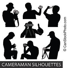 vettore, cameraman