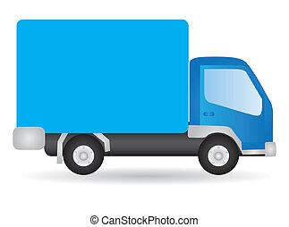 vettore, camion, illustrazione