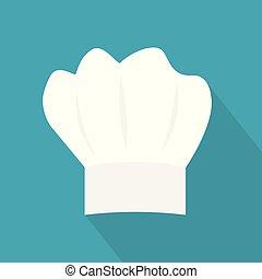 vettore, cappello, icon-, illustrazione, chef