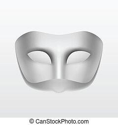 vettore, carnevale, mascherata, maschera festa, isolato