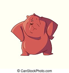 vettore, cartone animato, orso