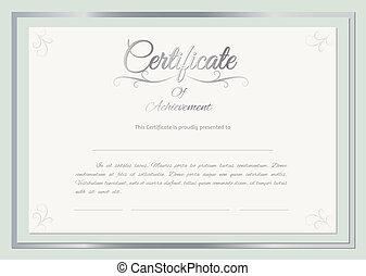 vettore, certificato, fondo