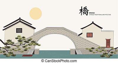 Ponte pietra antico acquedotto viadotto vettore for Casa tradizionale cinese