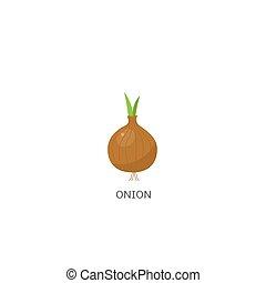 vettore, cipolla, illustrazione