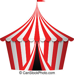 vettore, circo, illustrazione, tenda