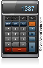 vettore, classico, ufficio, calcolatore