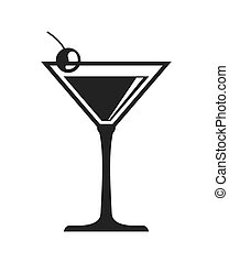 vettore, cocktail, bevanda, beverage., grafico, design.