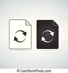 vettore, codificazione, isolato, illustrazione, fondo., html, nero, file, icona, bianco